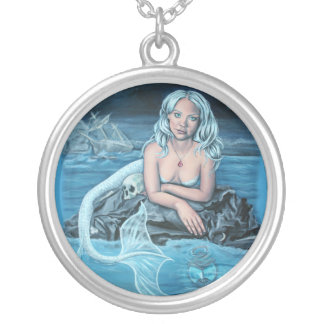 these waters deep artwork mermaid necklace