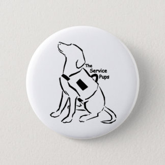 TheServicePups-Button 6 Cm Round Badge
