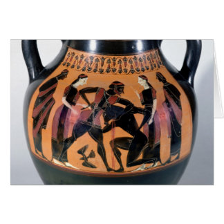 Theseus Fighting the Minotaur Card