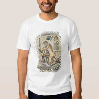 Theseus wrestling with the Minotaur T-shirts