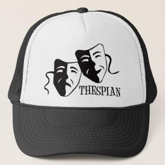 thespian black trucker hat