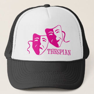 thespian hot pink trucker hat