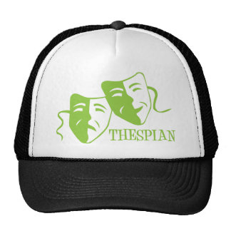 thespian lime green trucker hat