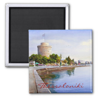 Thessaloniki Square Magnet