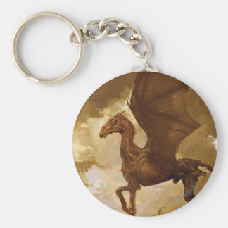 Thestral Basic Round Button Key Ring