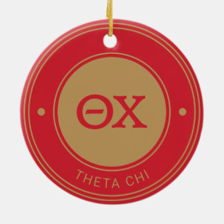 Theta Chi | Badge Ceramic Ornament