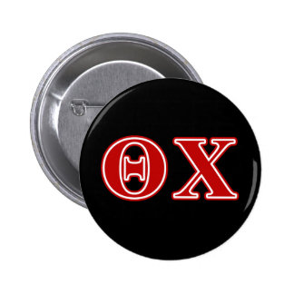 Theta Chi Red Letters 6 Cm Round Badge