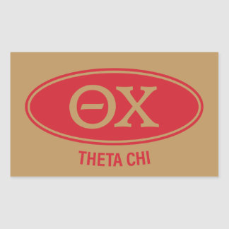 Theta Chi | Vintage Rectangular Sticker
