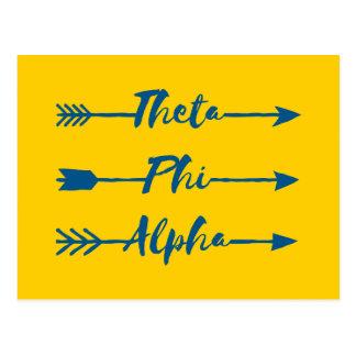 Theta Phi Alpha Arrow Postcard