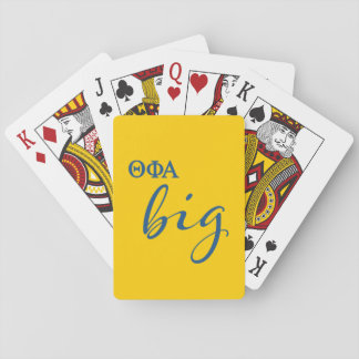 Theta Phi Alpha Big Script Playing Cards