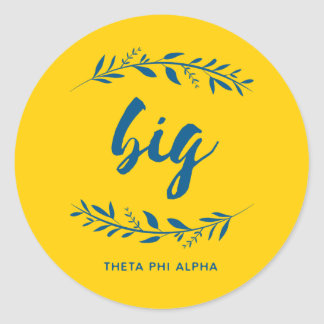 Theta Phi Alpha Big Wreath Classic Round Sticker