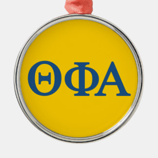 Theta Phi Alpha Lil Big Logo Metal Ornament