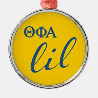 Theta Phi Alpha Lil Script Metal Ornament