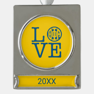 Theta Phi Alpha Love Silver Plated Banner Ornament