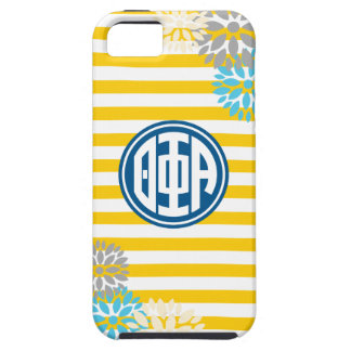 Theta Phi Alpha   Monogram Stripe Pattern iPhone 5 Case