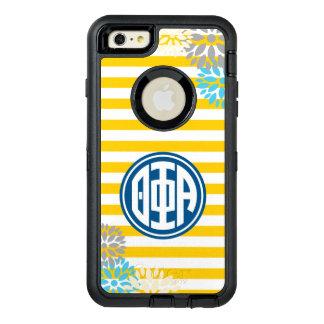 Theta Phi Alpha   Monogram Stripe Pattern OtterBox Defender iPhone Case