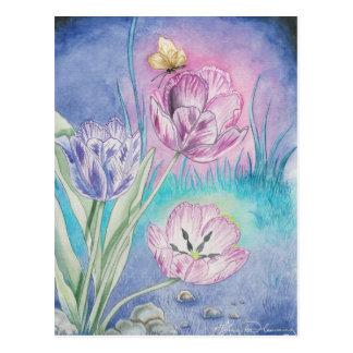 TheVespertine Tulips Art Cards Postcard