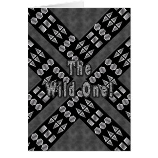 TheWild One Birthday - Studded Black Leather Card