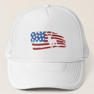 they american flag to deer hunting trucker hat