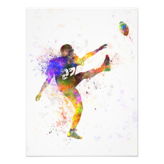 they american football to player man to kicker photo art