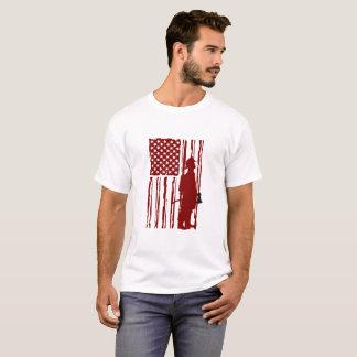 they amrican flag fireman T-Shirt