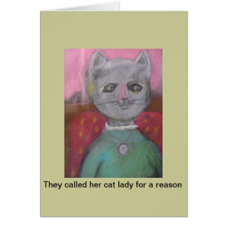 They called her cat lady.. rude card