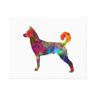 they canaan dog in watercolor 2 canvas print