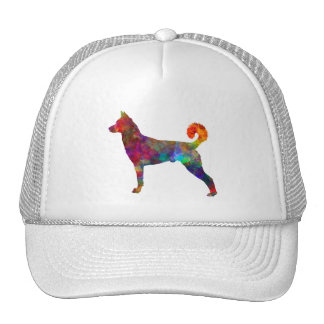 they canaan dog in watercolor 2 cap