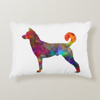 they canaan dog in watercolor 2 decorative cushion