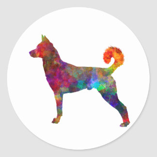 they canaan dog in watercolor 2 round sticker