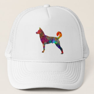 they canaan dog in watercolor 2 trucker hat