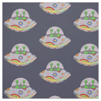 They Come in Peace UFO Fabric