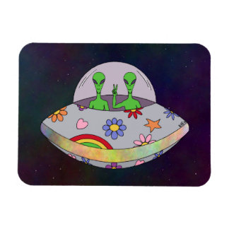 They Come in Peace UFO Magnet