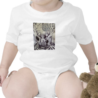 they danced all night in the light moon cat baby baby bodysuit