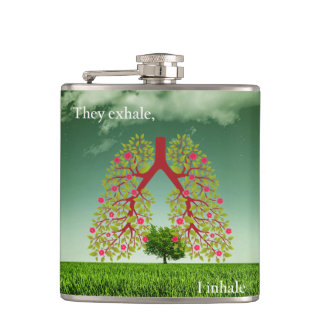 They exhale, I inhale Hip Flask