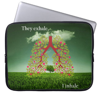 They exhale, I inhale Laptop Sleeve