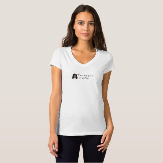 They Go Low, We Go High, Michelle Obama T-Shirt
