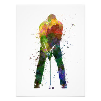 they man to golfer putting silhouette art photo