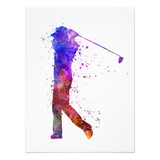they man to golfer swing silhouette