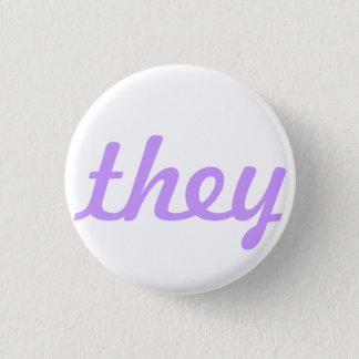 they pronoun button/pin 3 cm round badge