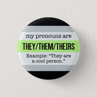 They/Them Pronouns – Agender Flag 3 Cm Round Badge