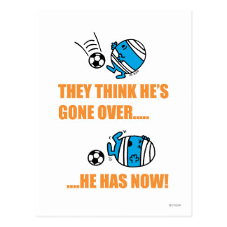 They Think He's Gone Over? Postcard