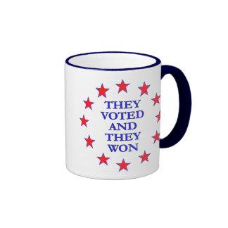 They Voted They Won Mug