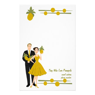 They Who Love Pineapple Stationery