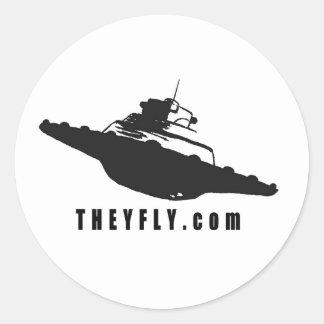 Theyfly Classic Round Sticker