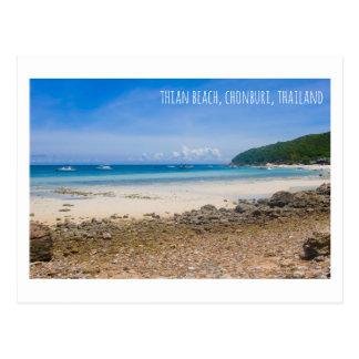 Thian beach Thailand tourist attraction postcard