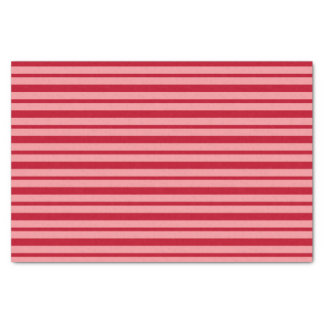 Thick and Thin Burgundy and Salmon Stripes Tissue Paper