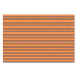 Thick and Thin Orange and Brown Stripes Tissue Paper