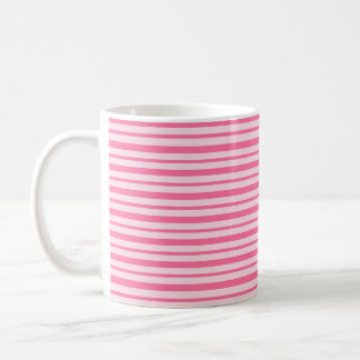 Thick and Thin Pink Stripes Coffee Mug