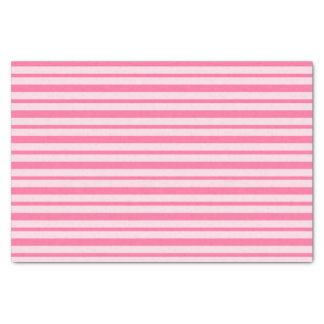 Thick and Thin Pink Stripes Tissue Paper